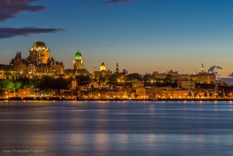Old Quebec City At The Beginning Of The Night