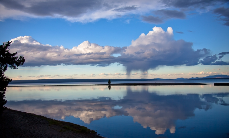 Yellowstone Lake Rain Squall