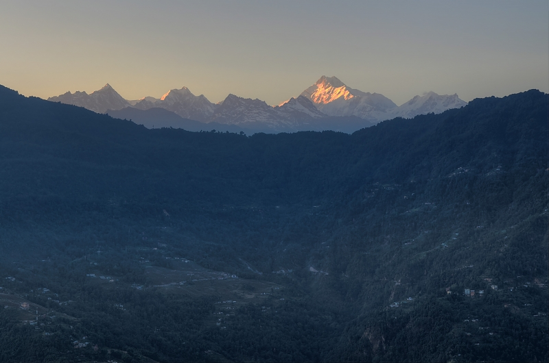 Kangchenjunga At Sunset