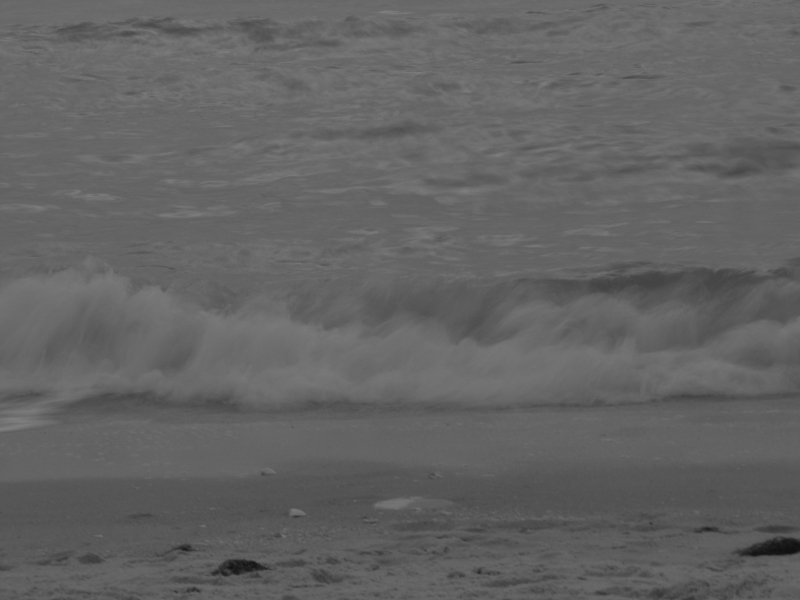 Wispy Wave In Black And Whitw