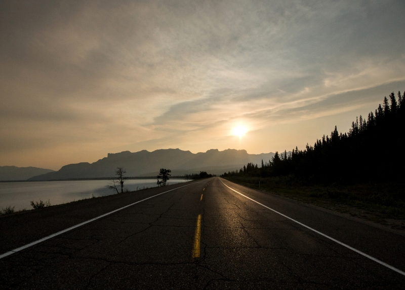 Yellowhead Highway Sunrise