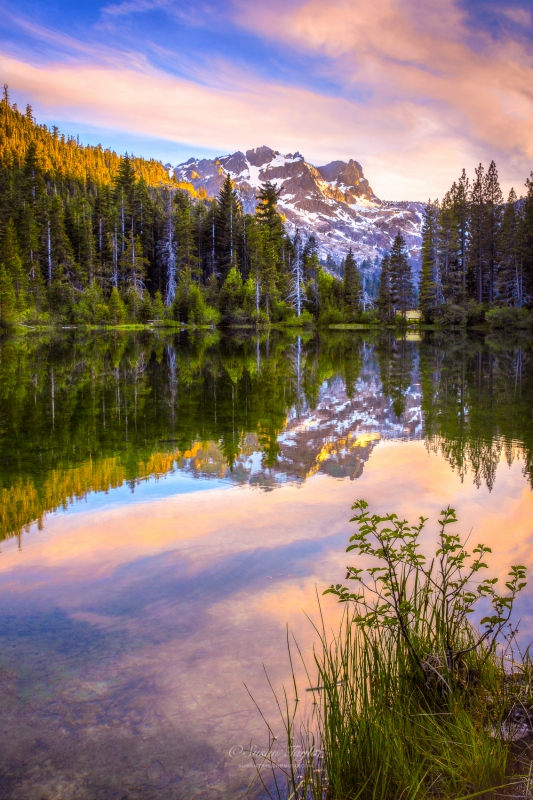 Sierra Buttes Spring Reflection