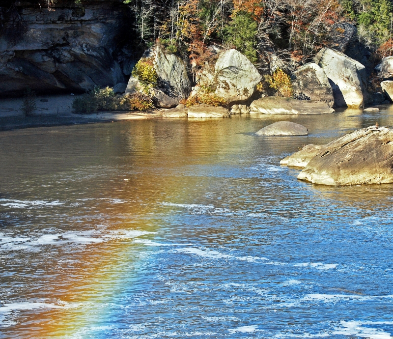 Rainbow At The Basin Of The Cumberland Falls