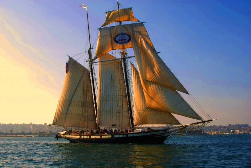 California Under Full Sail Sandiego Bay