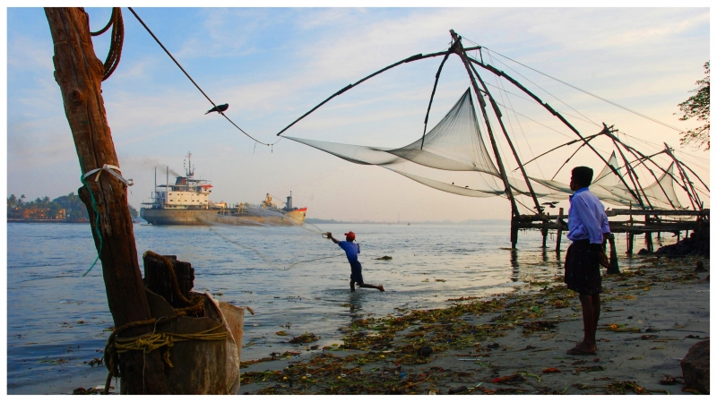 Chinese Fishing Nets In Cochin, India