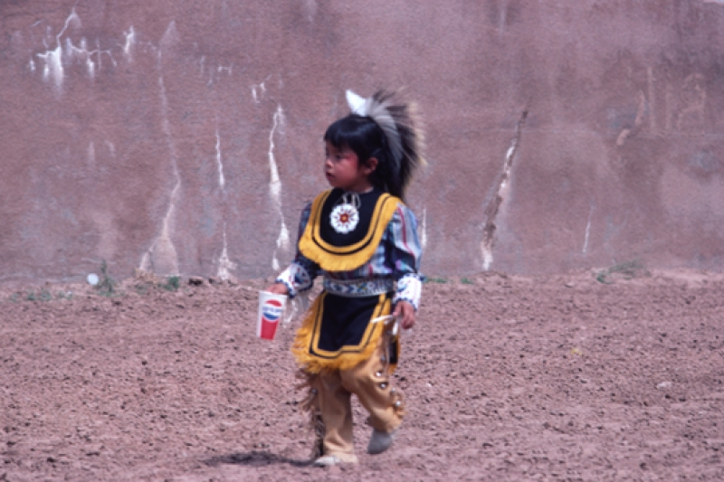 Navajo Boy With Pepsi Cup