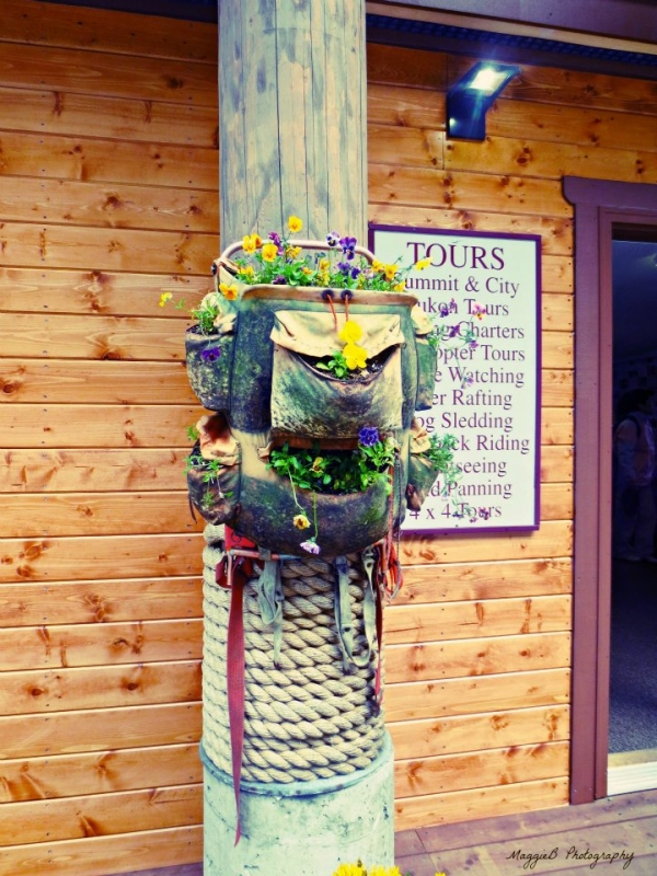 Flowered Backpack