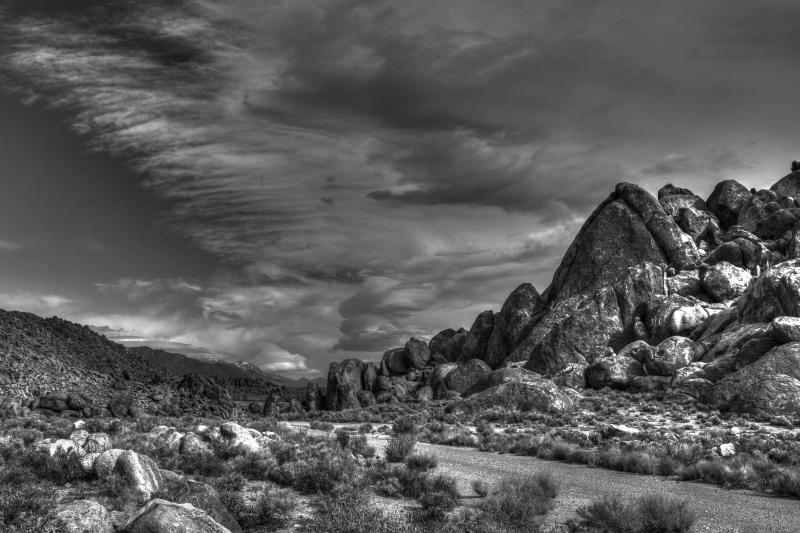Stormy Day In The Alabama Hills, Lone Pine