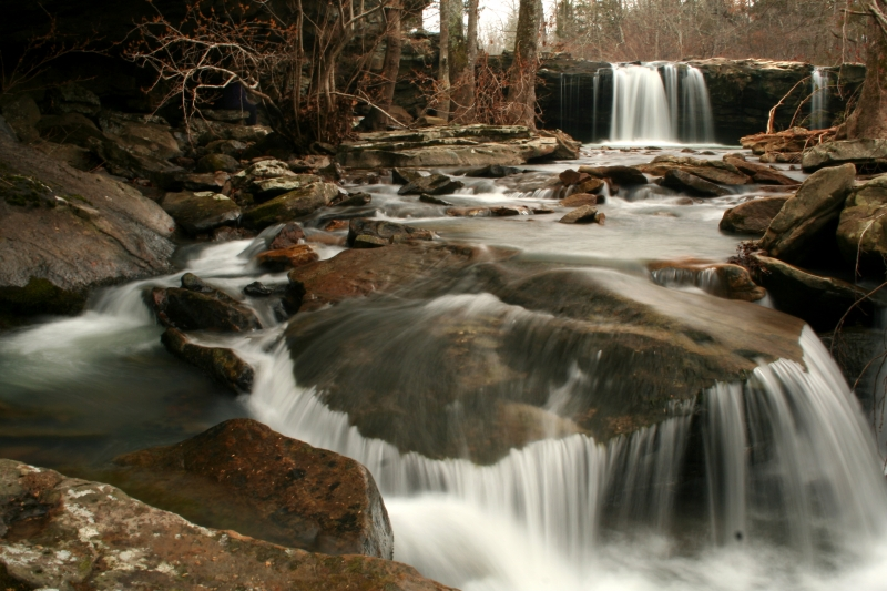Falling Water Falls In Winter