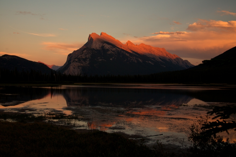 Vermillion Lakes Sunset