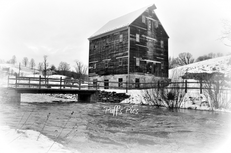 Mew Hampden Mill In Winter