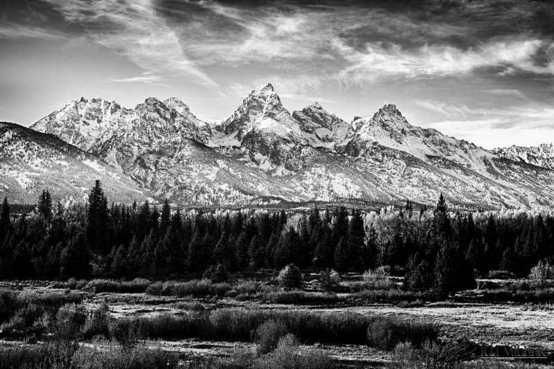 First Snow On Tetons