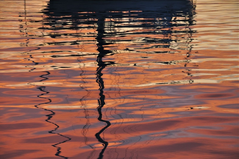 Reflections On The St. Lawrence River At Cape Vincent