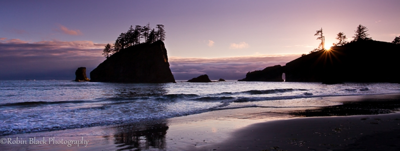 Sunset, Second Beach (olympic National Park)