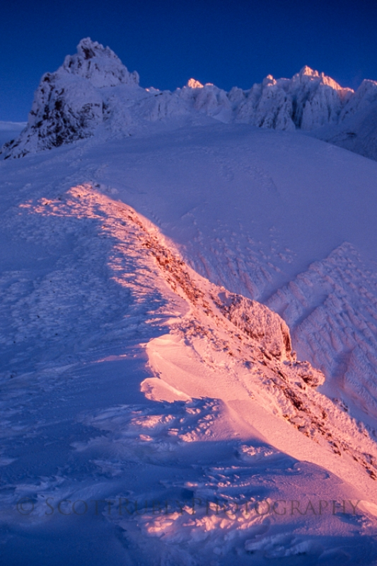 Alpenglow, Mt. Hood, Or