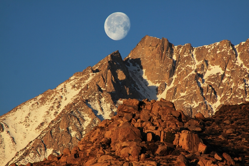 Moonset Over Basin Mtn.