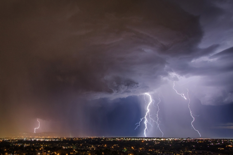 Storm Cell With Lightning