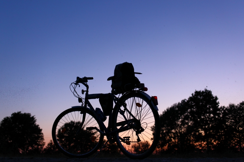 Biking In The Dusk