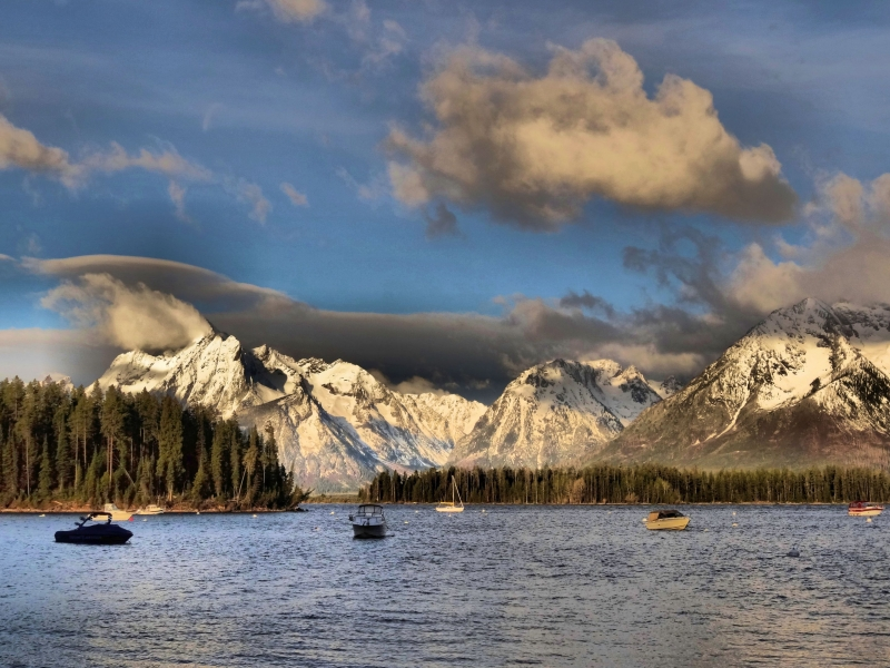 Boating The Tetons