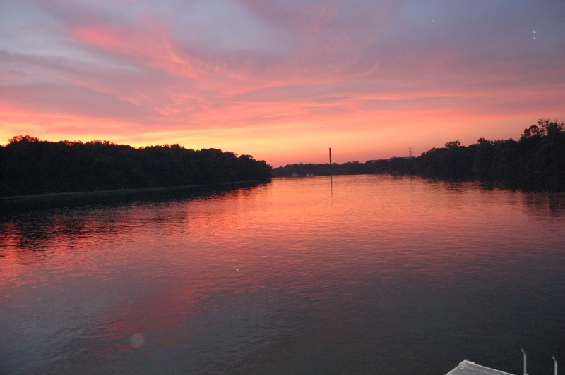 Sunset Over The Alabama River