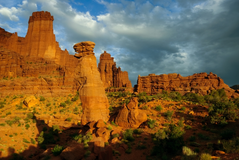 Fisher Towers Evening Light