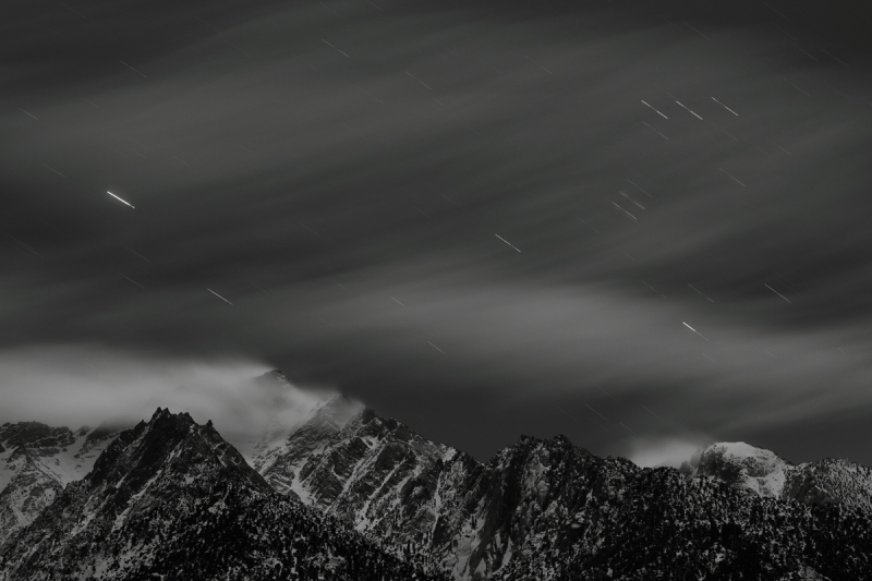 Star Trail Over Mt. Whitney