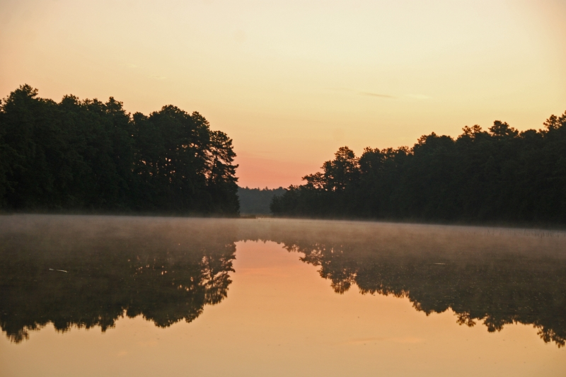 Sunrise On Harrisville Pond