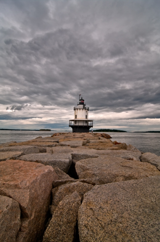 Storm Clouds Over Spring Point Light
