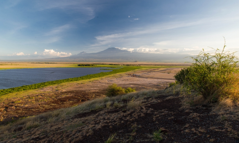 Kilimanjaro Viewed From Amboseli National Park