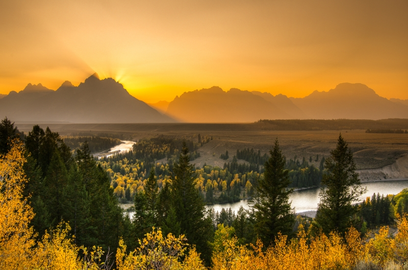 Snake River And The Teton Mountains