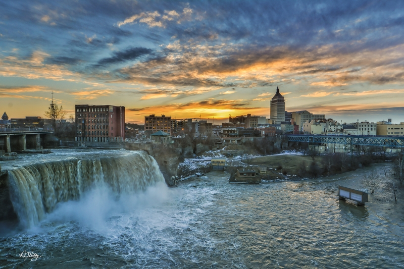 High Falls At Sunset