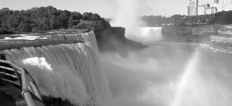 Black And White Niagara