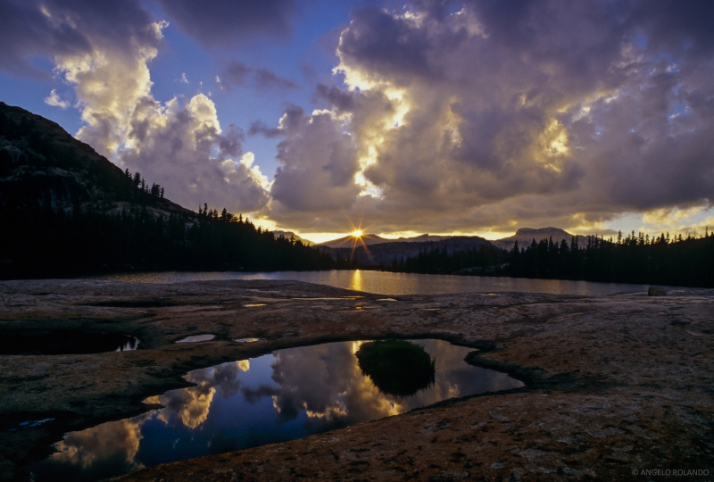 Sunset At Cathedral Lakes