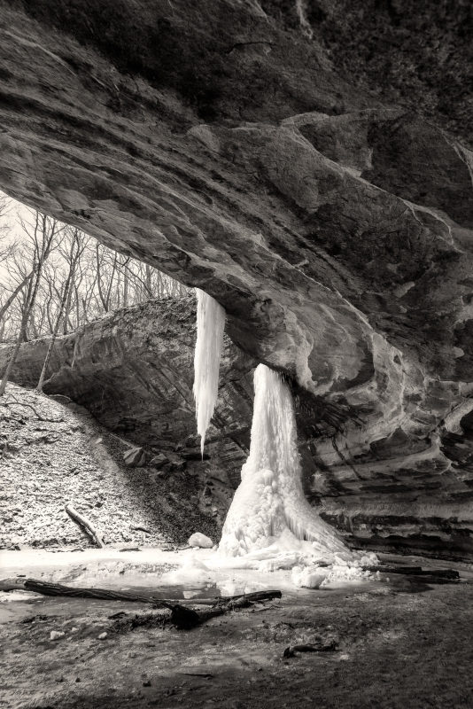 Frozen Falls At Starved Rock