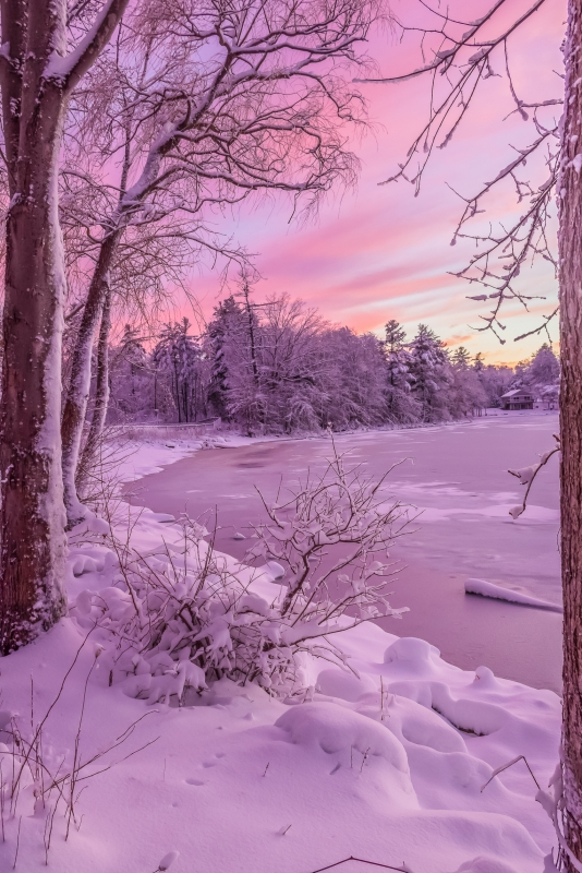 Colorful Winter Sunset