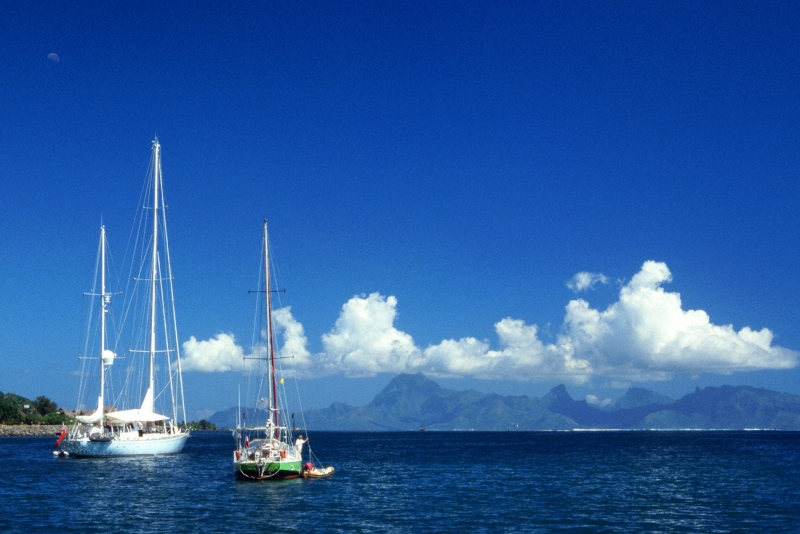 Moorea And Sailboats
