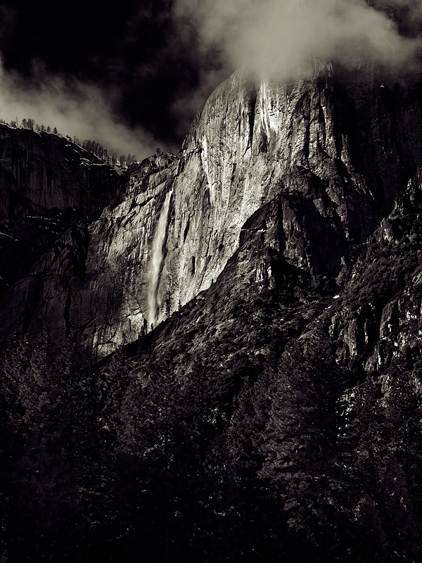 Winter Storm Clouds, Yosemite Falls