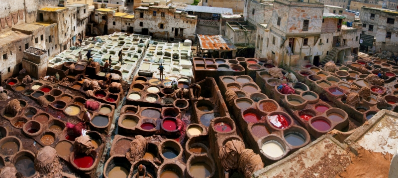The Ancient Tannery At Fez