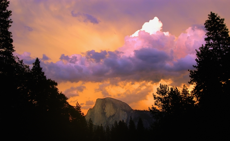 Sunset On Half Dome After A Storm