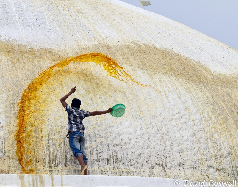 Painting The Boudhanath Stupa