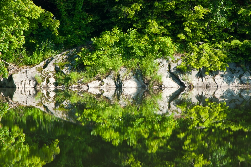 Rock And River Reflection