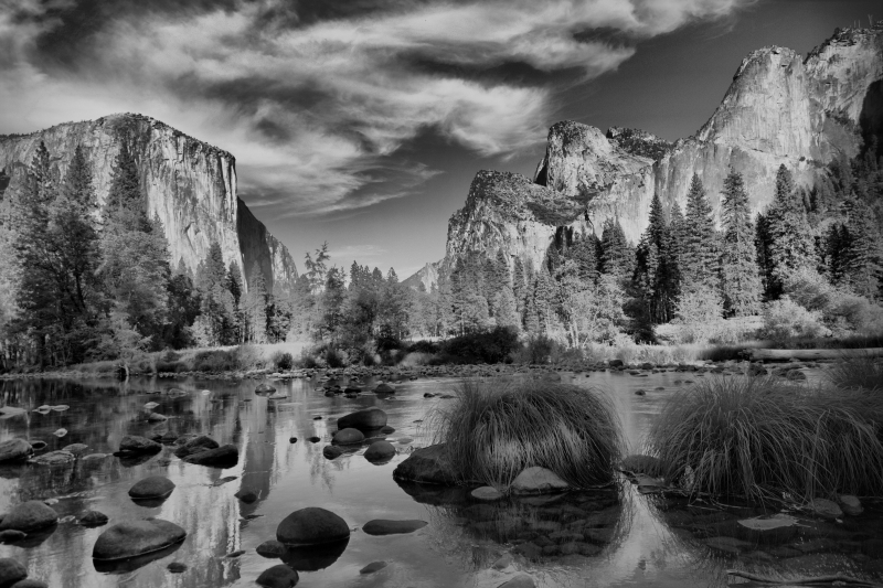 Yosemite National Park:  El Capitan From The Bank Of The Merced River