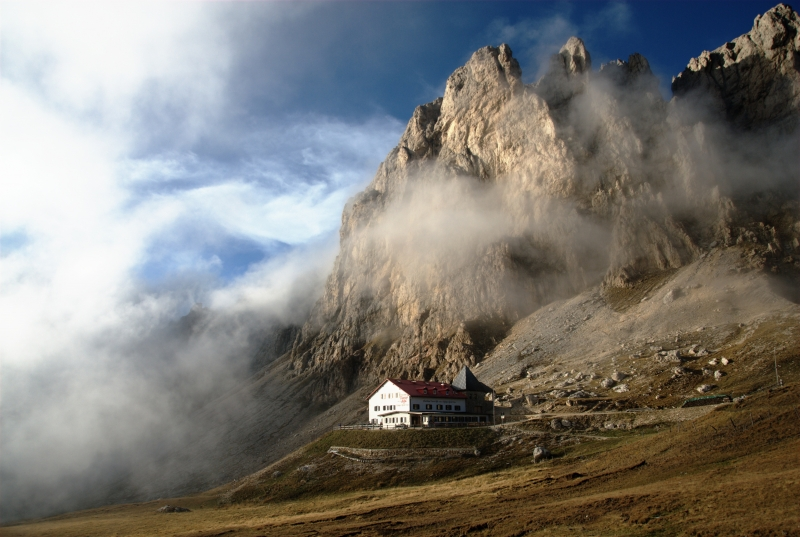 Tires Hut And Low Clouds