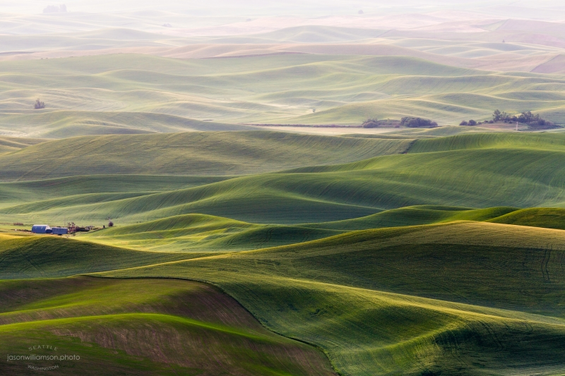 Foggy Sunrise In The Palouse
