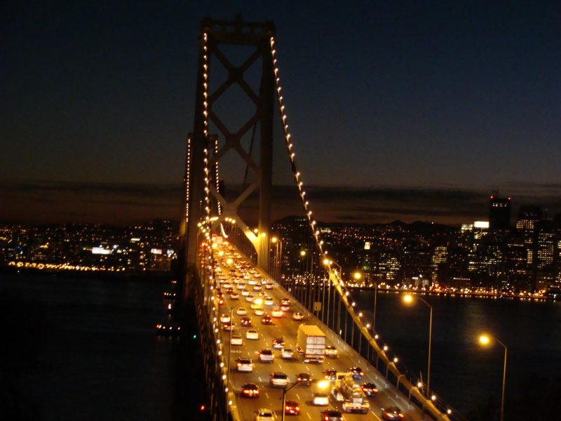 Night Time On The Bay Bridge