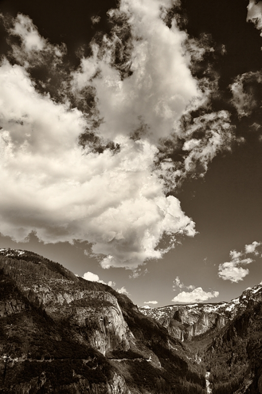 Cloud And Bridalveil Falls, Yosemite