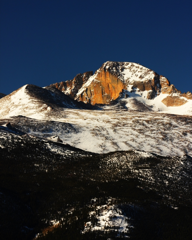 Spring Morning On Longs Peak