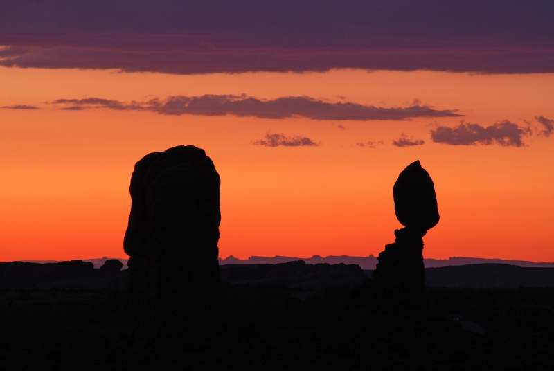Balanced Rock At Sunset