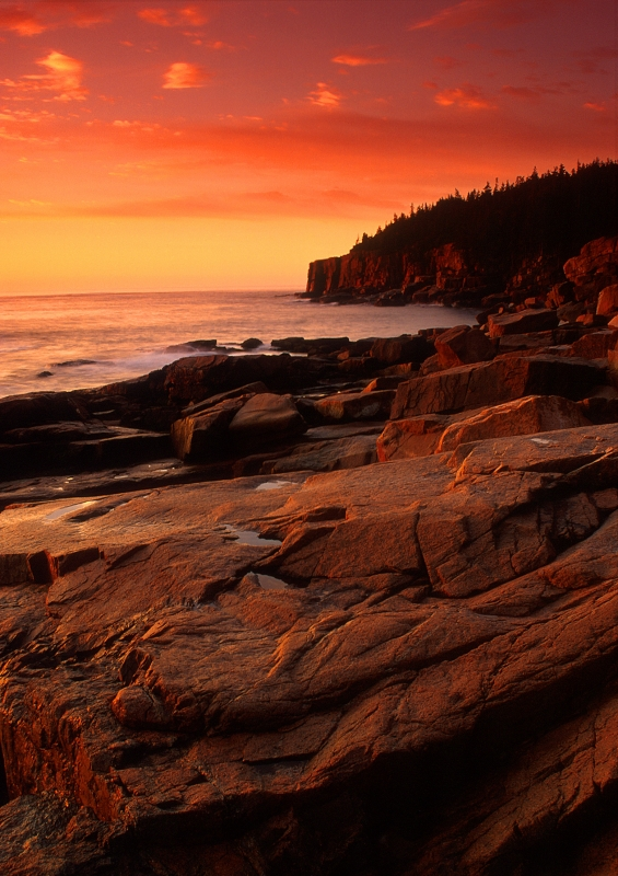 Sunrise, Otter Cliffs