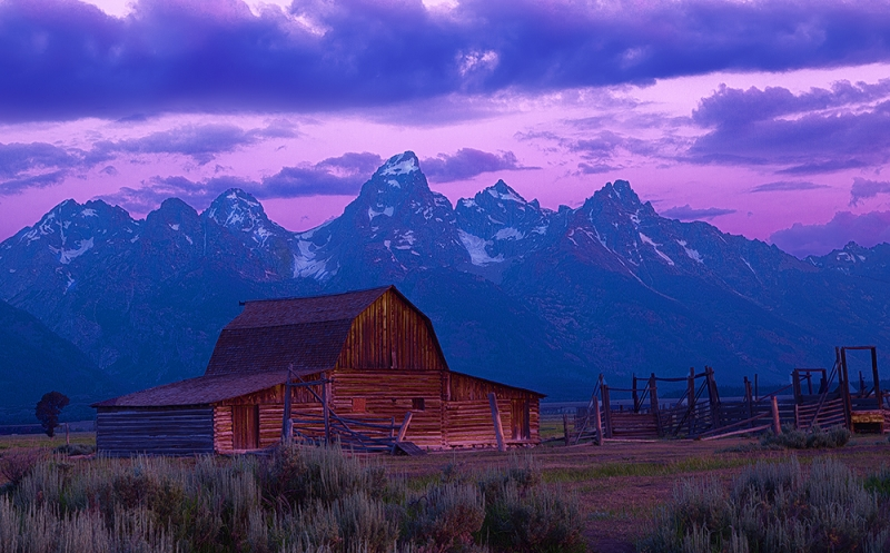 Moulton Barn Teton Sunrise